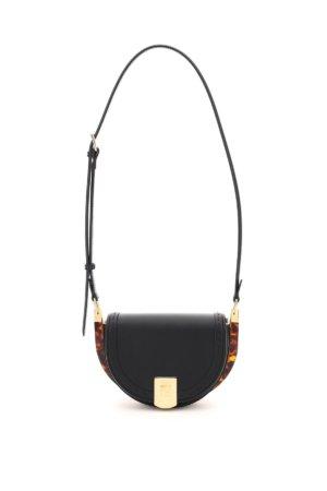 FENDI MOONLIGHT SHOULDER BAG OS Black Leather