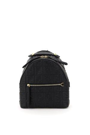 FENDI NAPPA FF MINI BACKPACK OS Black Leather