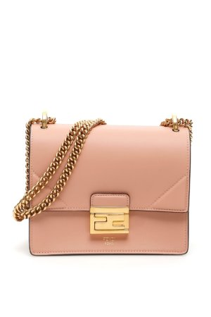 FENDI SMALL KAN U BAG OS Pink Leather