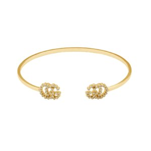 GG Running 18ct Yellow Gold Diamond Bracelet