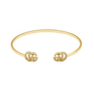 GG Running 18ct Yellow Gold Diamond Bracelet