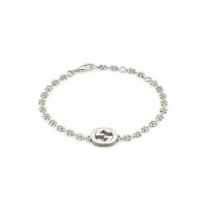 Interlocking G Bracelet in Silver