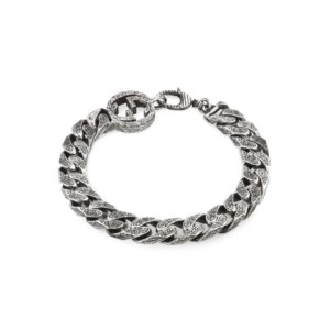 Interlocking G Chain Bracelet in Silver