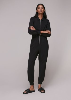 Jersey Zip Front Jumpsuit