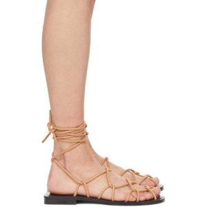 Khaite Beige The Lyon Sandals
