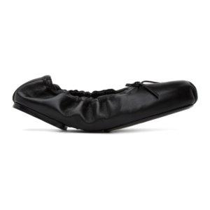 Khaite Black The Ashland Ballerina Flats