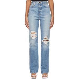 Khaite Blue Ripped The Danielle Jeans