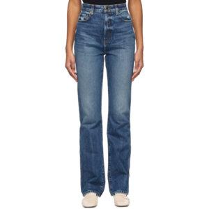 Khaite Indigo The Danielle Jeans