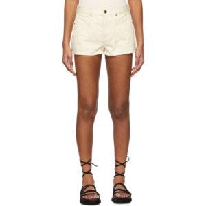 Khaite Off-White The Charlotte Shorts