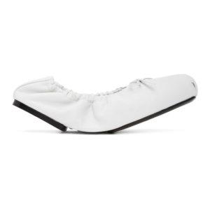 Khaite White The Ashland Ballerina Flats