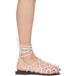 Khaite White The Lyon Sandals