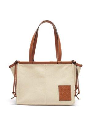 Loewe - Cushion Small Canvas Tote Bag - Womens - Ivory Multi