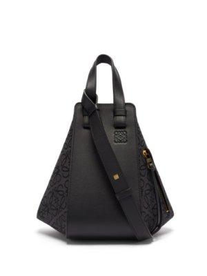 Loewe - Hammock Small Anagram-jacquard & Leather Tote Bag - Womens - Black