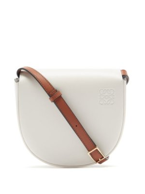 Loewe - Heel Bi-colour Leather Cross-body Bag - Womens - White Multi