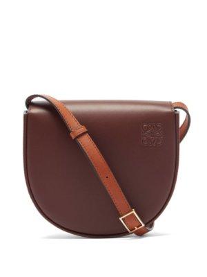 Loewe - Heel Leather Cross-body Bag - Womens - Burgundy