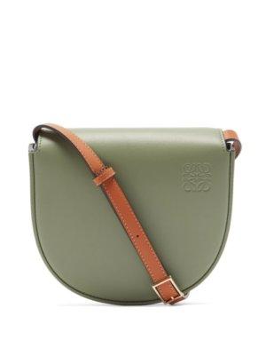 Loewe - Heel Small Leather Cross-body Bag - Womens - Green Multi