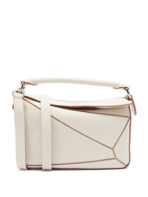 Loewe - Puzzle Leather Cross-body Bag - Womens - White