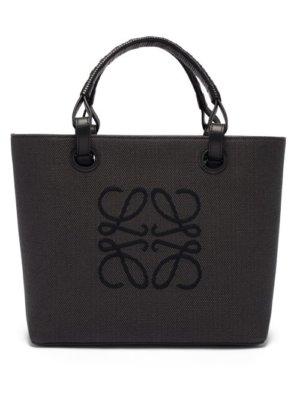Loewe - Small Anagram-jacquard Canvas Tote Bag - Womens - Black
