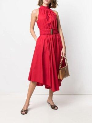 Michael Michael Kors ruffle-hem dress - Red