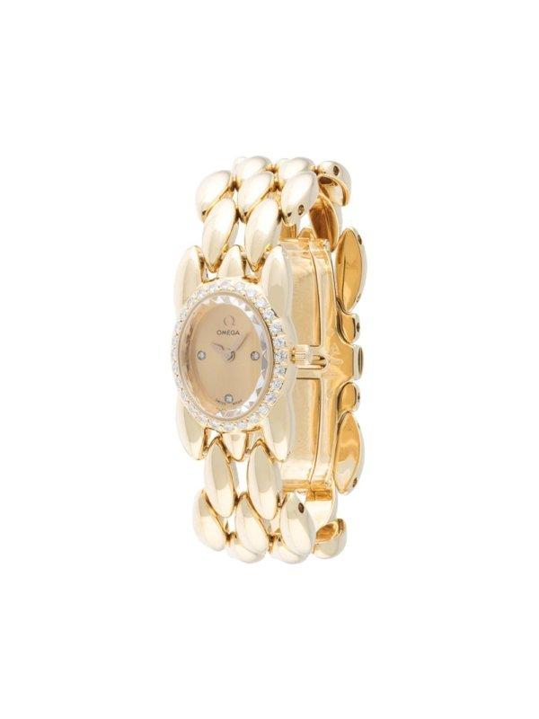 Omega pre-owned Ladies quartz 13mm - Gold