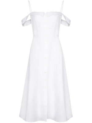 Reformation Allegro off-shoulder midi dress - White