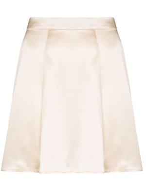 Reformation Demie flared mini skirt - Neutrals