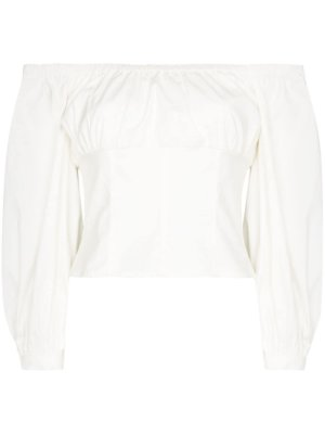 Reformation Truffle off-shoulder corset top - White