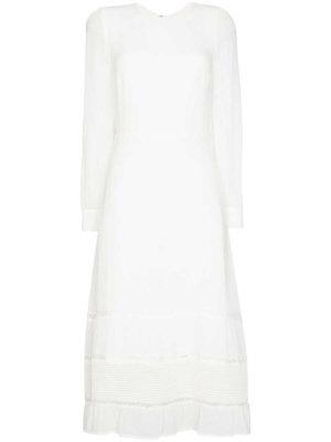 Reformation Valerie tiered midi dress - White