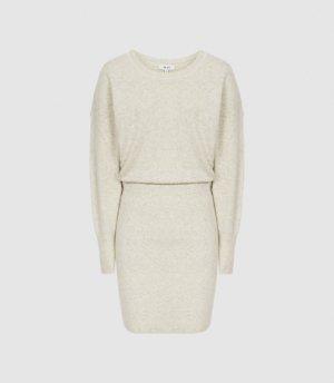Reiss Alexa - Knitted Sweat Dress in Grey, Womens, Size XS