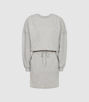 Reiss Jetta - Jersey Sweater Dress in Grey Marl, Womens, Size 4