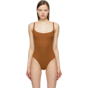 SKIMS Brown Fits Everybody Square Neck Bodysuit
