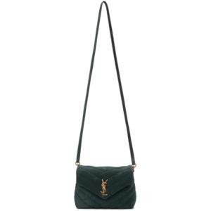 Saint Laurent Green Suede Toy Loulou Bag