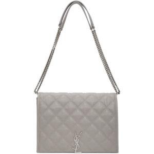 Saint Laurent Grey Small Becky Bag