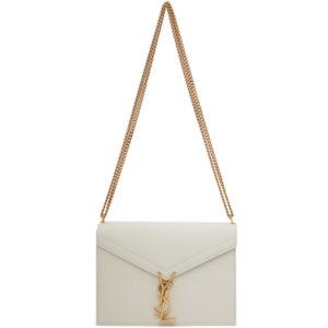 Saint Laurent Off-White Medium Cassandra Bag