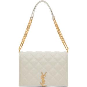 Saint Laurent Off-White Mini Becky Bag