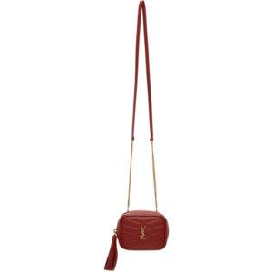 Saint Laurent Red Baby Lou Chain Bag
