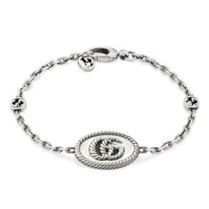 Silver GG Marmont Aged Bracelet