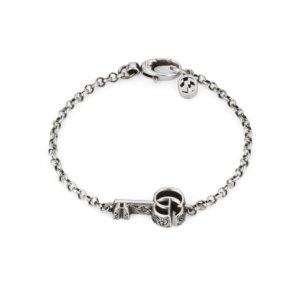 Silver GG Marmont Key Bracelet