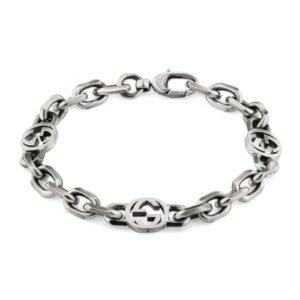Silver Interlocking G Bracelet