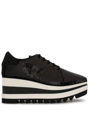 Stella McCartney Elyse sequinned platform sneakers - Black