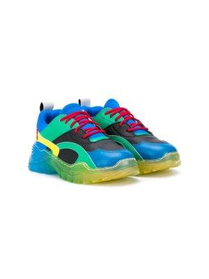 Stella McCartney Kids colour-block sneakers - Blue