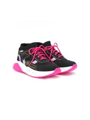 Stella McCartney Kids logo sport sneakers - Black