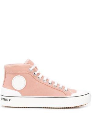 Stella McCartney Stella logo high-top sneakers - Pink
