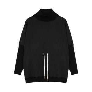 Varley Adelaine Black Stretch-jersey Sweatshirt
