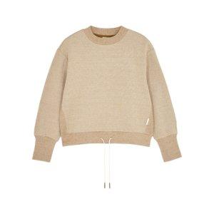 Varley Edith Sand Stretch-cotton Sweatshirt