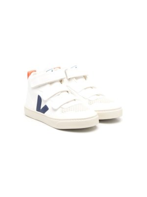 Veja Kids high-top touch-strap sneakers - White