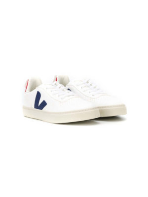 Veja Kids lace-up logo sneakers - White