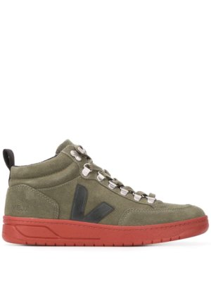 Veja Roraima embroidered logo high top sneakers - Green