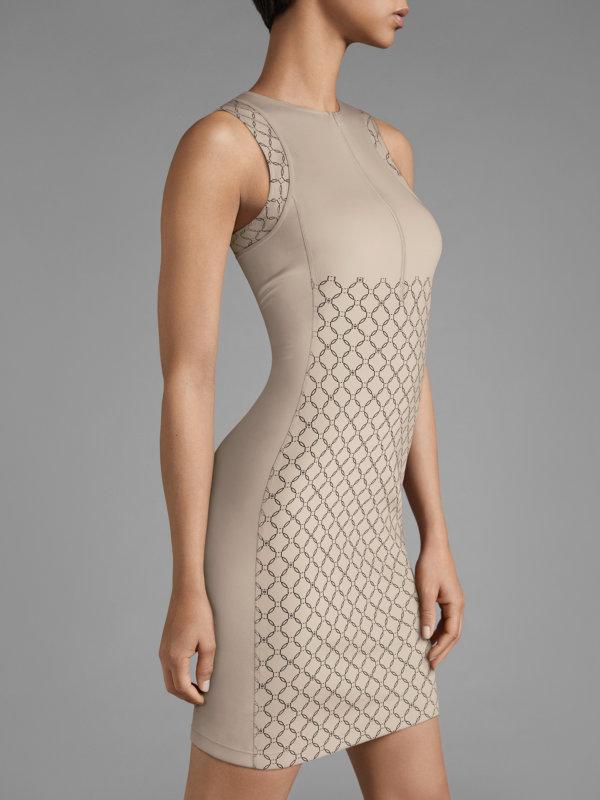 W-Print Dress - 9577 - 34