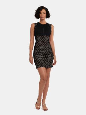 W-Print Dress - 9606 - 34